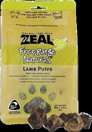 Zeal Free Range Naturals Lamb Puffs (85g)
