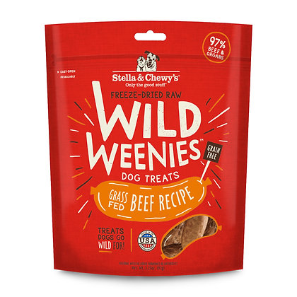 Stella & Chewy's Wild Weenies Beef Dog Treats 3.25oz