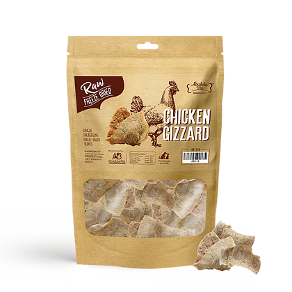 Absolute Bites Freeze Dried Raw Chicken Gizzard (65g)