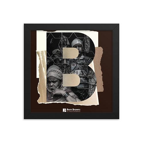 BORN BROWN (5 of 9) Framed Matte Poster
