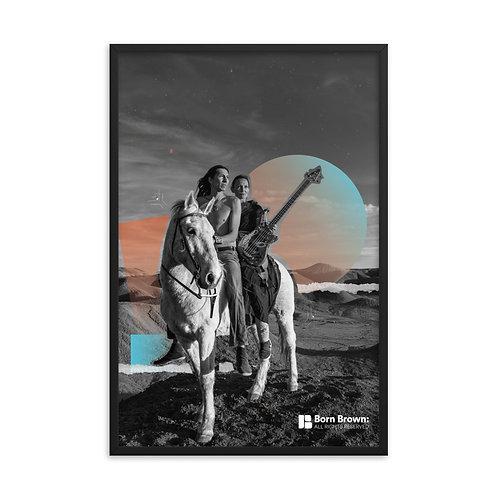 Native Folk Framed Matte Poster