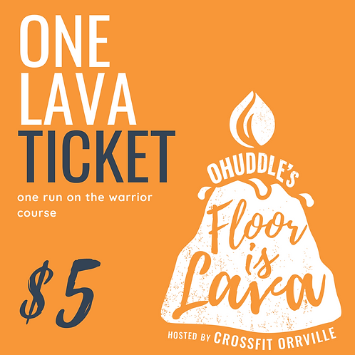 One Floor is Lava Obstacle Course Run