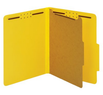 Medical tabbed file folders