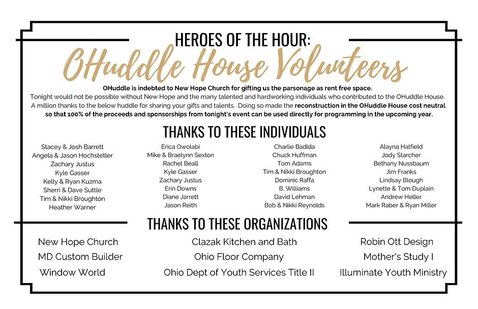 House Volunteers