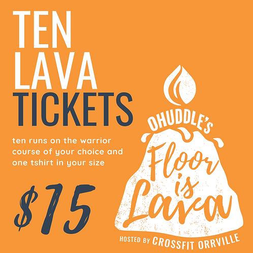 Ten Floor is Lava Obstacle Course Runs