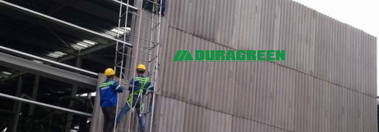 Duragreen-Project- cement claddin Instal
