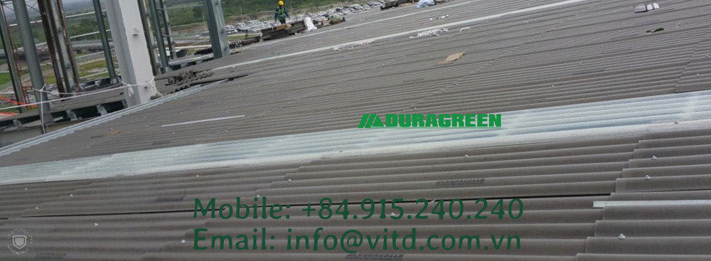 Duragreen-Project- cement roof Installat