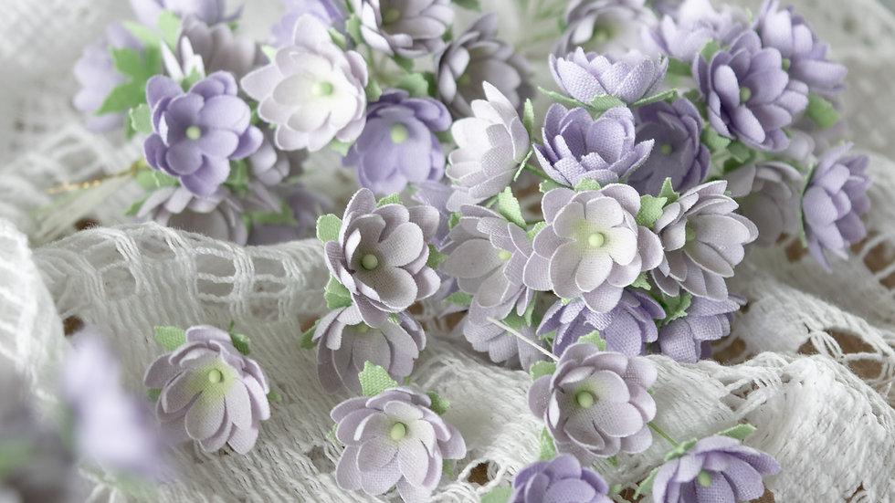 Mini flowers lilac 1 cm