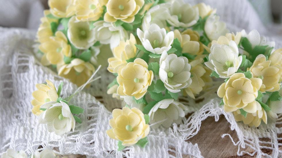 Mini flowers yellow 1 cm