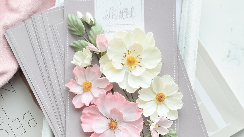 "Set of flowers ""Rose hip"" pink"