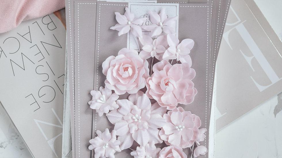 """Набор цветов """"Базовый микс"""" розовый"""