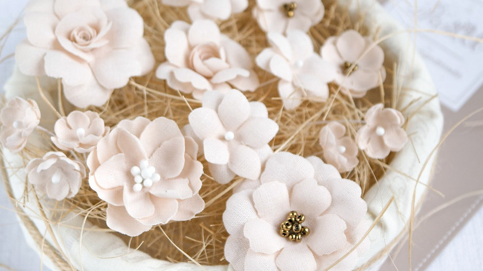 "Set of flowers ""Beige Mix"""