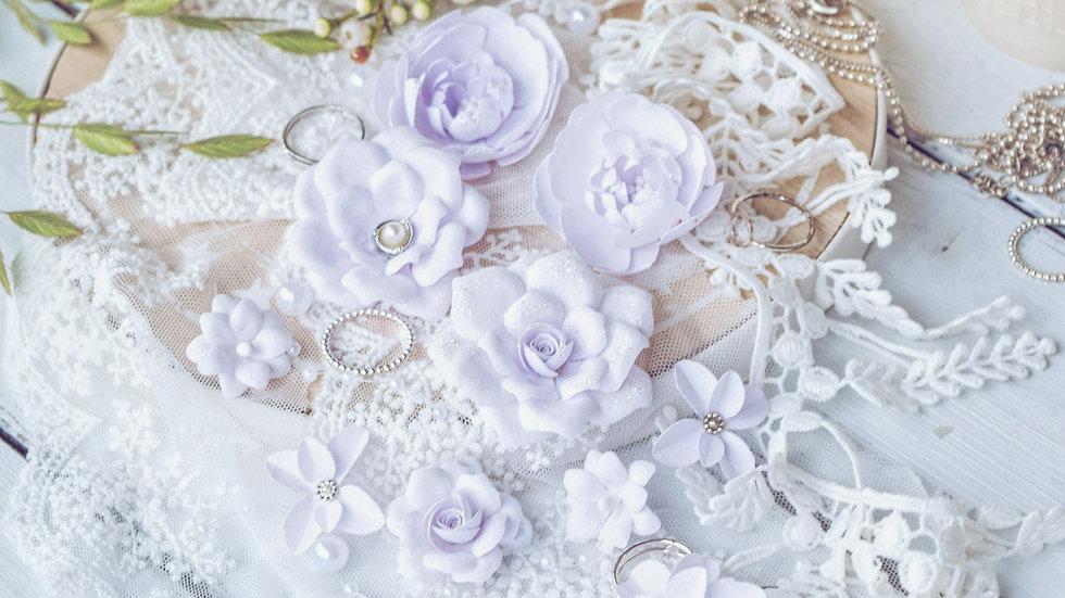 """Set of flowers """"DIAMOND"""" lilac"""