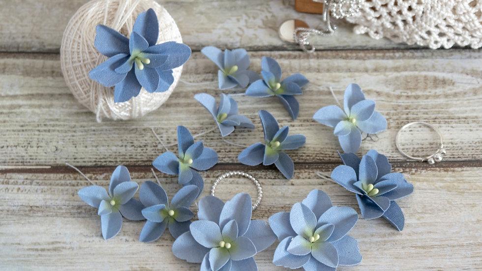 """Set of flowers """"Hydrangeas"""" blue"""