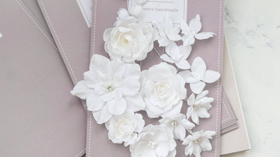 """Set of flowers """"Basic mix"""" white"""