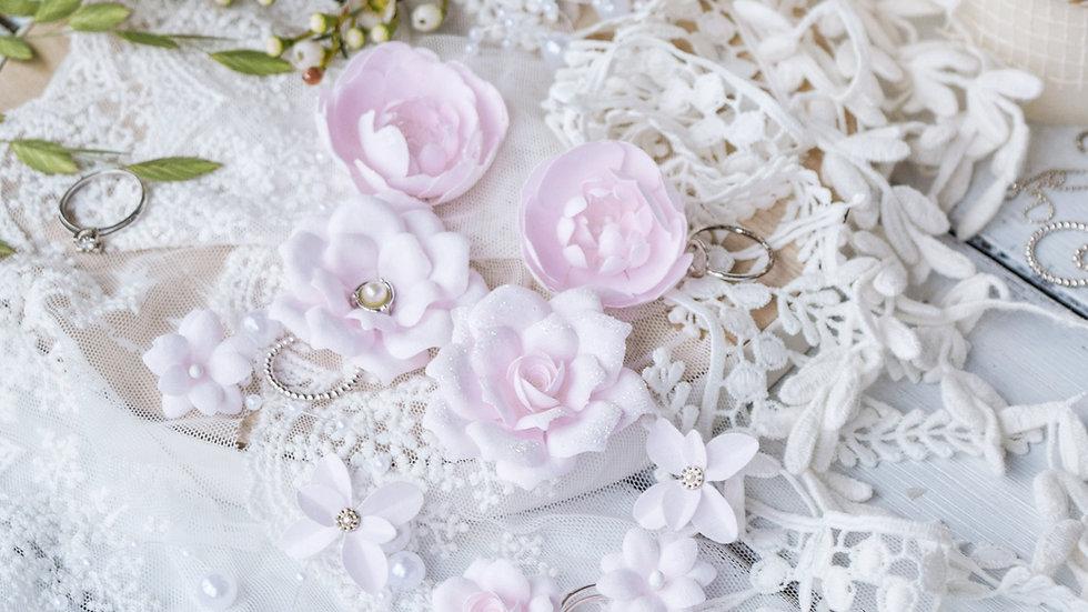 "Set of flowers DIAMOND"" pink"