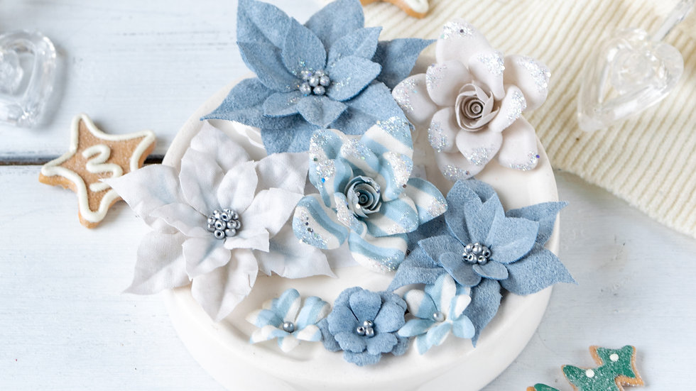 "Set of colors ""Fairytale winter"" blue"