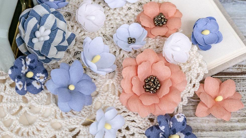 "Set of flowers ""Marine"" coral"