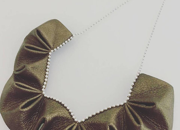 """UrAfricanTouch """"Gold & Silver"""" - Collier Origami"""