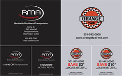 Promotionals coupons for RMA & ORANGE TAXI