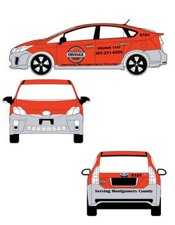 Toyota Prius Sketch 2012 for Orange Taxiiiii