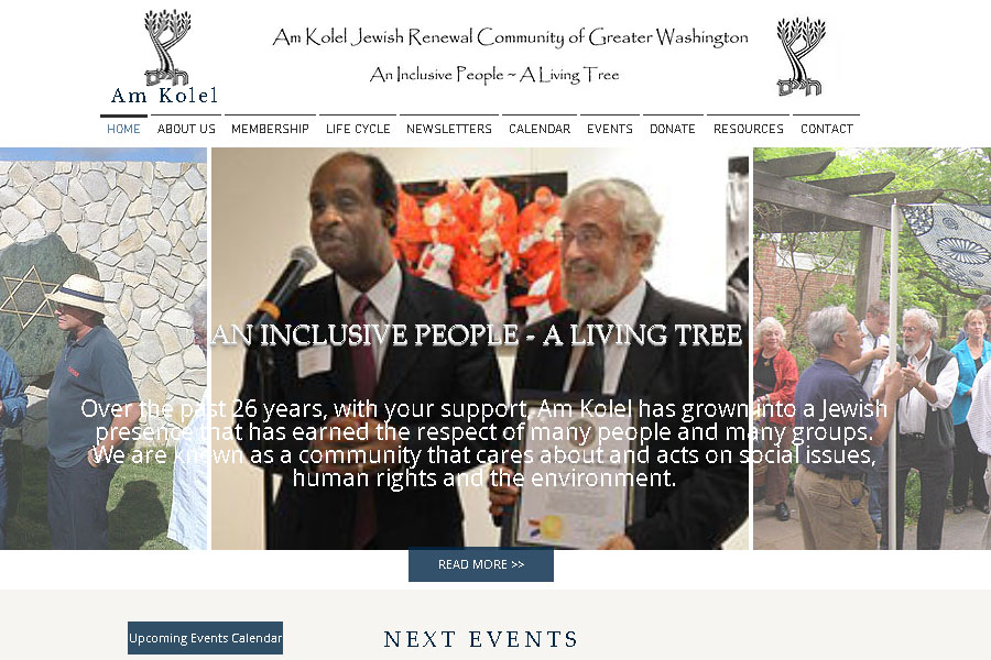 Am Kolel Jewish organization website 2016