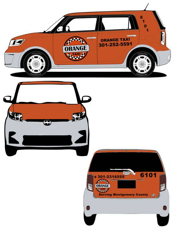 Scion XB sktech 2012 for Orange Taxi