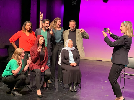 My newest play, THE CLUB, had its first staged reading at Emerging Artists Theatre's New Work Series