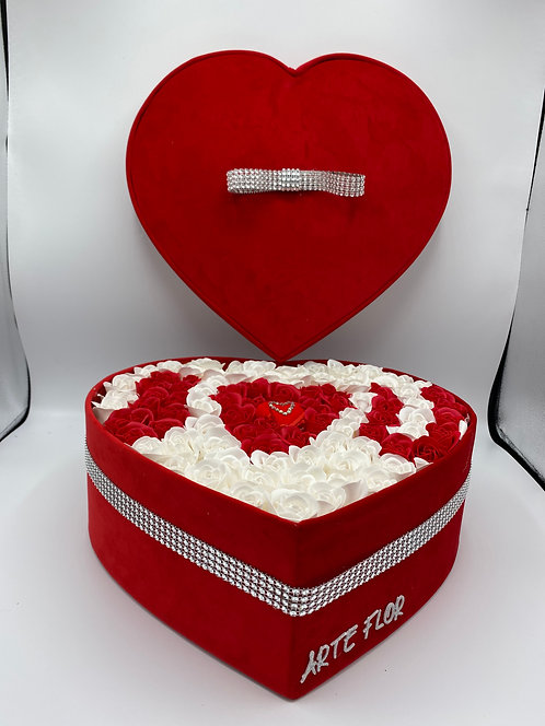 Flower Box Cuore Red