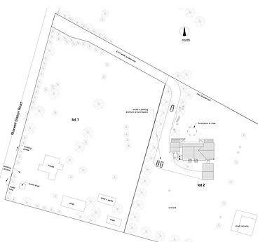A site plan of a new house