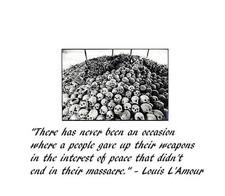 Gun control = genocide