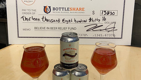 MobCraft's Believe in Beer Blending Barrels No. 1 raises over $13,000 for Believe in Beer Fund