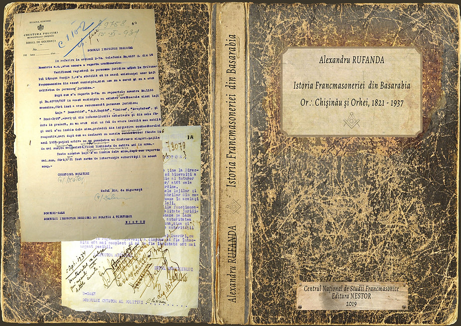 Freemasonry in Bessarabia, Alexandru Rufanda, Book Cover Design and Typesetting