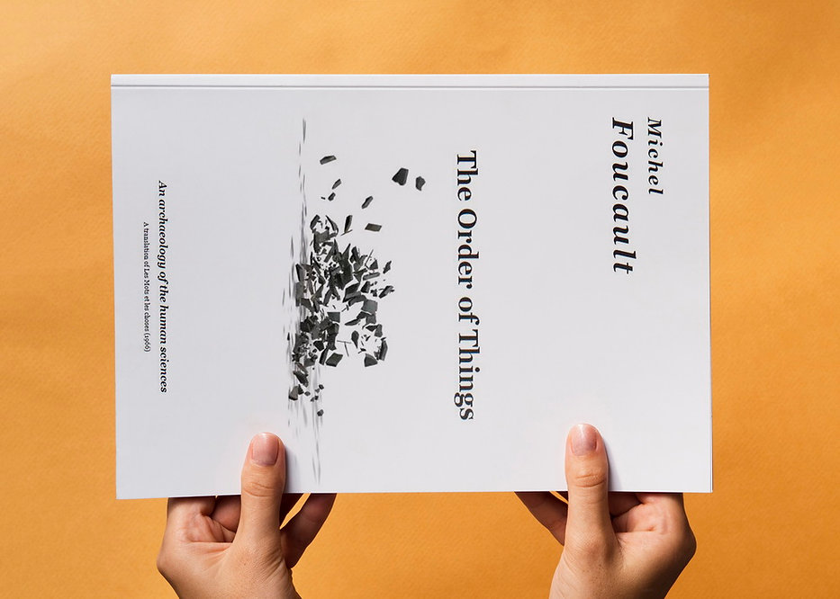The Order of Things, Michel Focault, Cover and Typesetting Design
