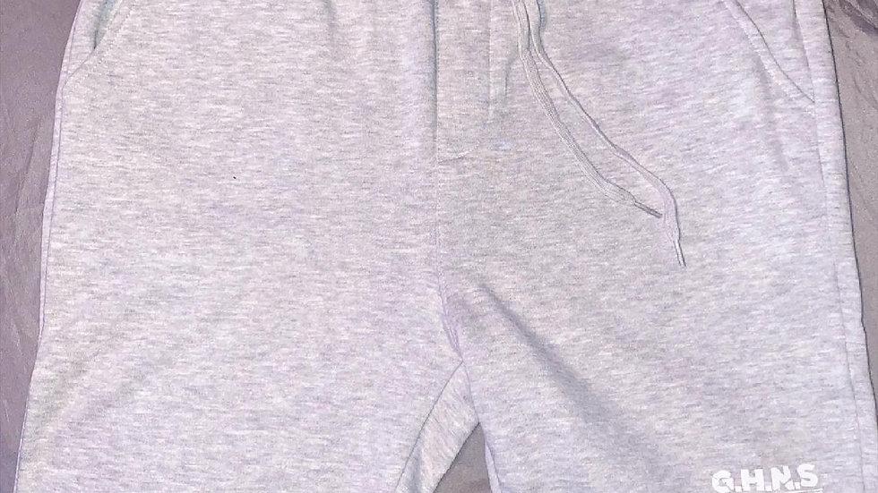 GHNS Fleece Shorts w/ White Letters