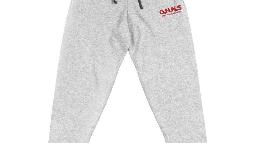 Unisex GHNS Joggers w Red Letters