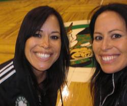 Mina with sister Marina