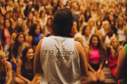 Mina Ortega running Pro Action Dance