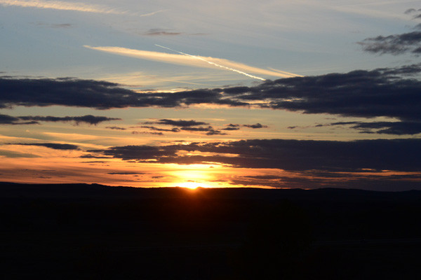Tony and Cathy Hill  - Sunset over Garyowen Mt