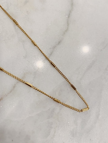 TUBE NECKLACE GOLD/SILVER