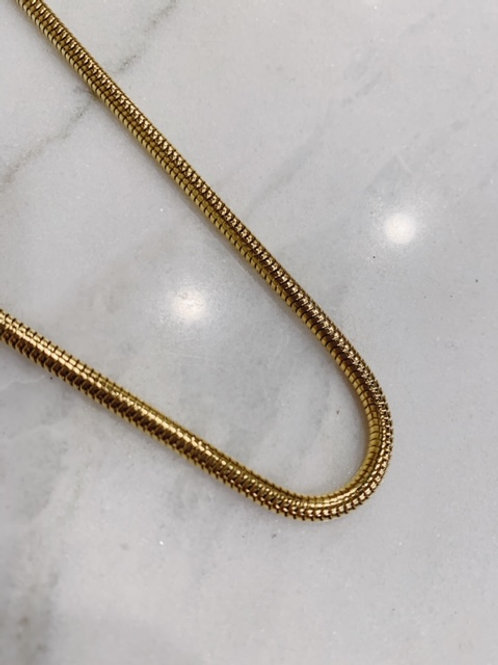 BIG SNAKE NECKLACE GOLD/SILVER