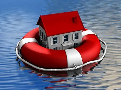 House Floating on Raft