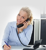 Receptionist Answering Phone