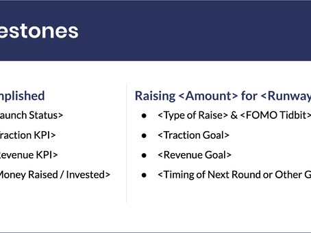 The Best Slide to Finish Your Startup Pitch Deck: Milestones Slide