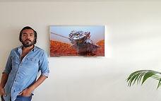 Stella and Voyager, Mars. Framed print.