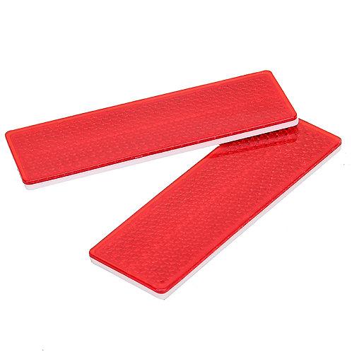 REFLECTORS - PAIR  RED - 70mm x 20mm