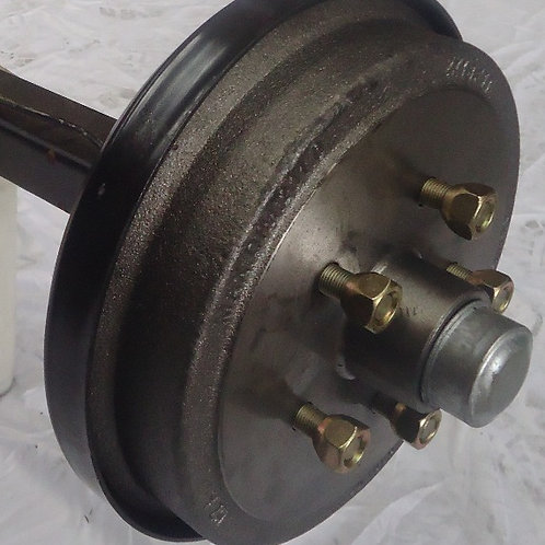 MECHANICAL DRUM BRAKED AXLE - HT / HQ / FORD & COMMODORE - COMPLETE & ASSEMBLED