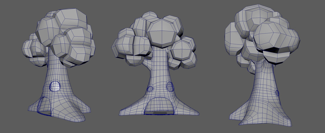 Wireframe of the Rock Store model.