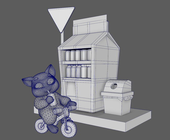 This is the wireframe of the full model.
