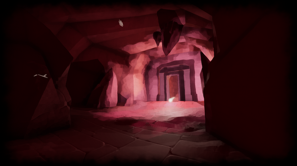 This is a screenshot of the Sole cave level. I am responsible for modeling environment assets, placing assets in the environment and texturing/lighting.